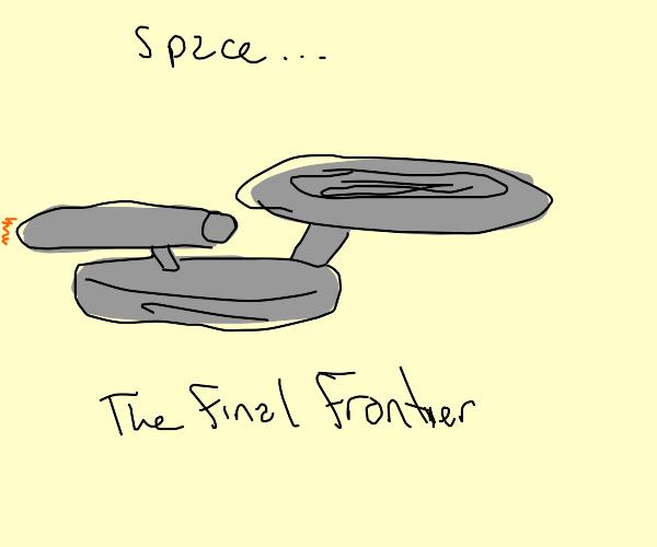 SS enterprise from star trek