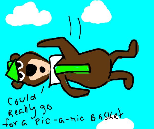 yogi bear falling from the sky