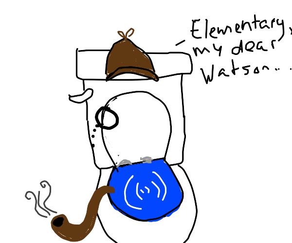 It's the toilet detective!