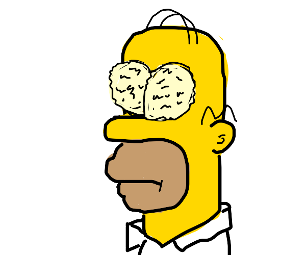 Homer has bad eye crust
