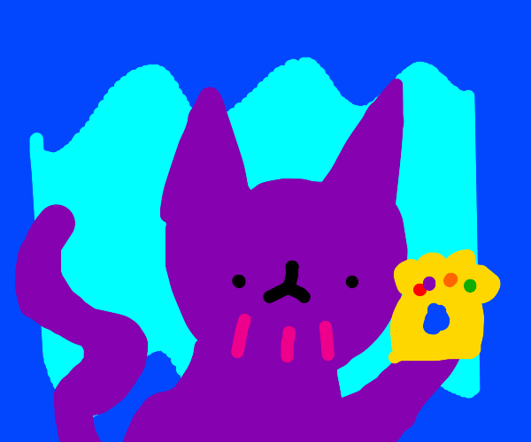 Thanos but it actually a cat.