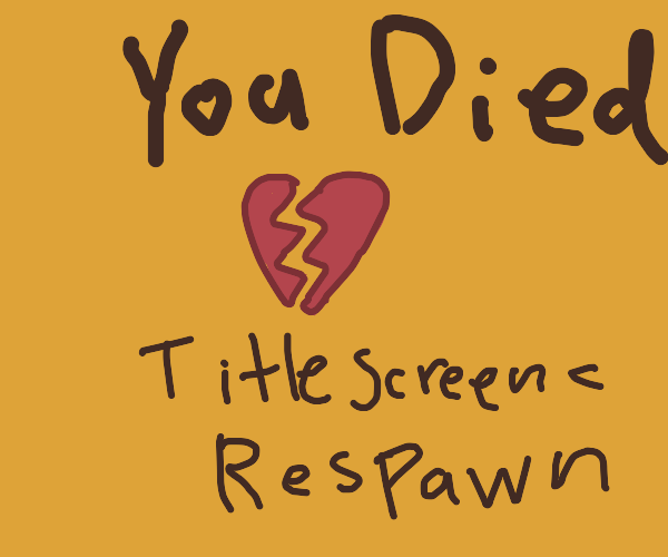 You Died! Respawn, Title screen