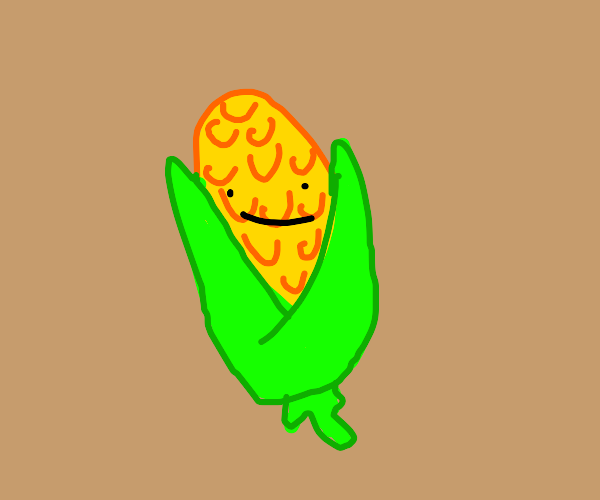 corn with a face