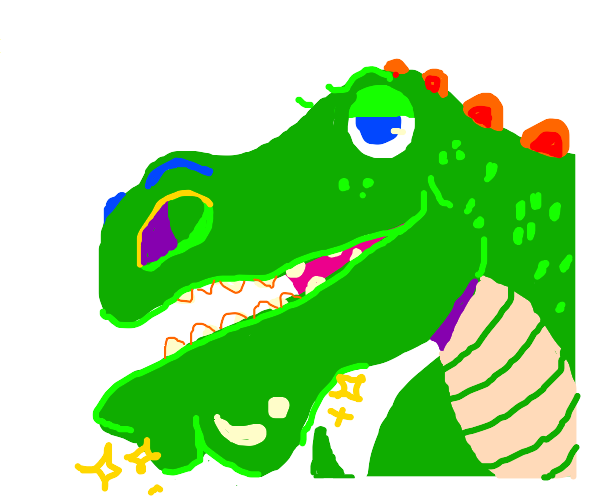 Dinosaur with strong chin