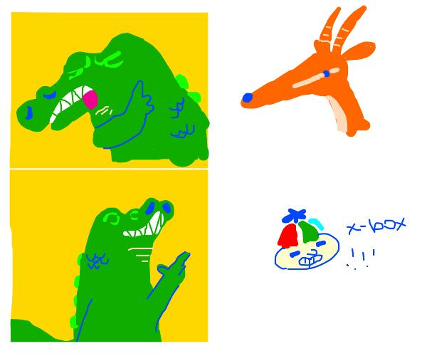 Crocodile wants that good mEaT