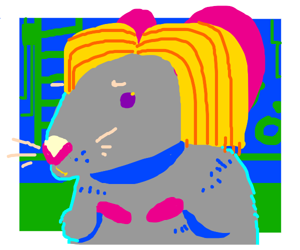 Rat with Blonde Hair