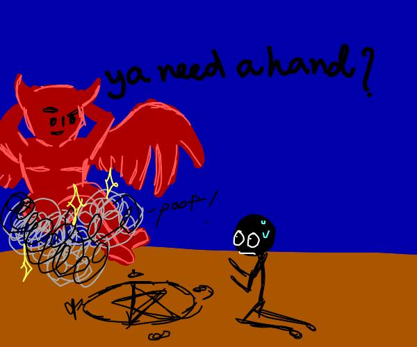 Satan asks if u need help