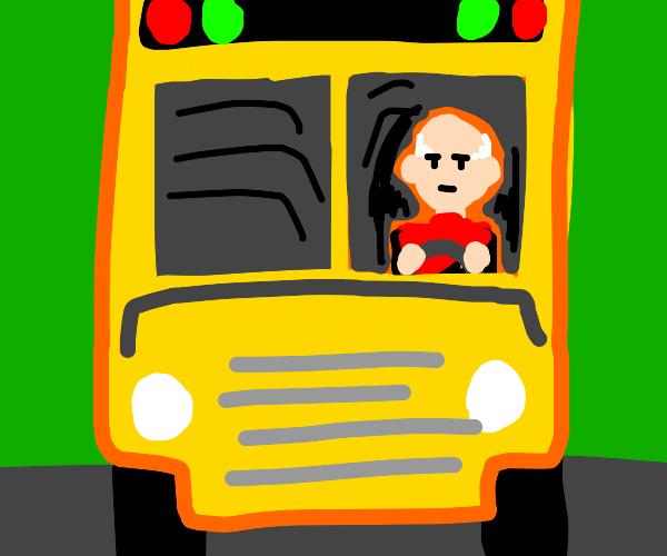 Bald Star Trek guy drives school bus