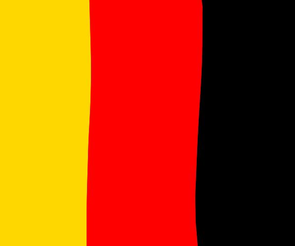 sideways German flag