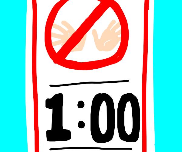 No hands at 1:00