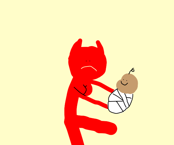 Demon holding baby
