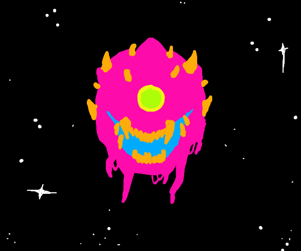 Weird monster thing floating in space