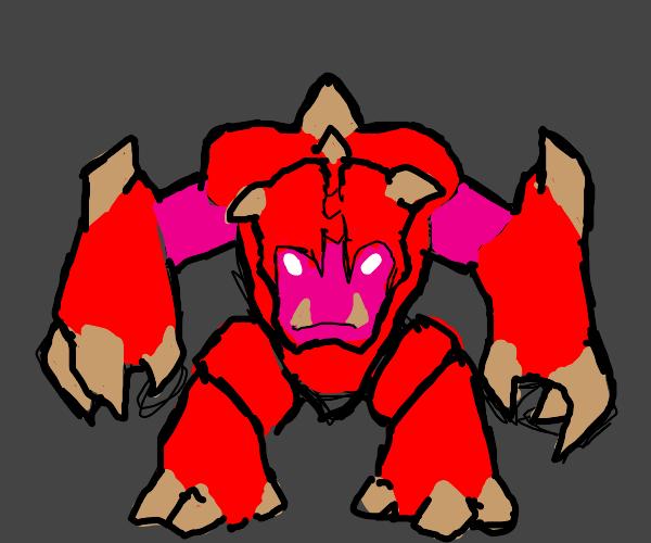 a pink neon demon