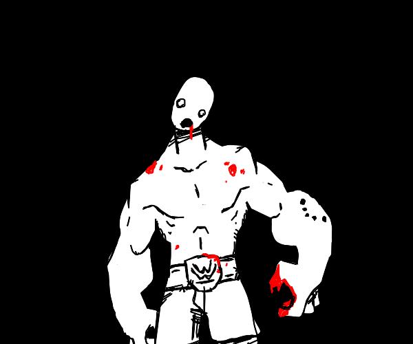 OMG, zombie WWE wrestler. RUN!!!!