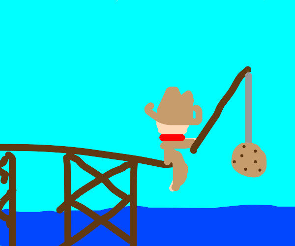 cowboy fishing for cookie