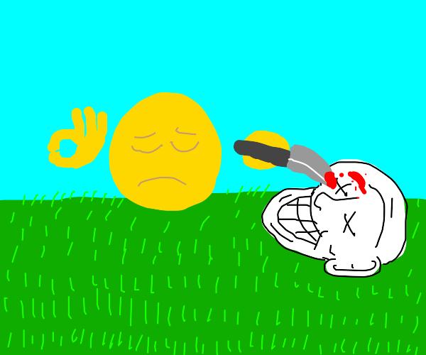 Emojiman murderer kills troll
