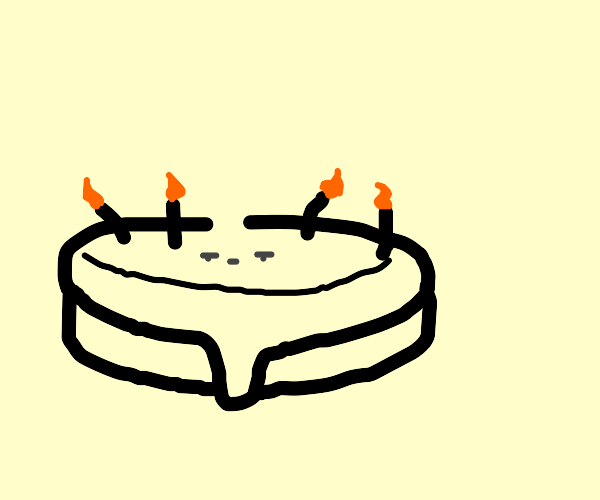 Cake With a Meh Face