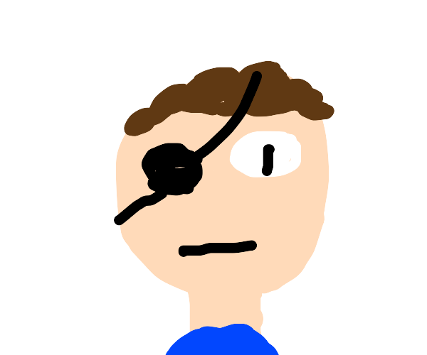 man without a right eye