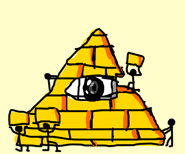 Stick people in a pyramid formation?