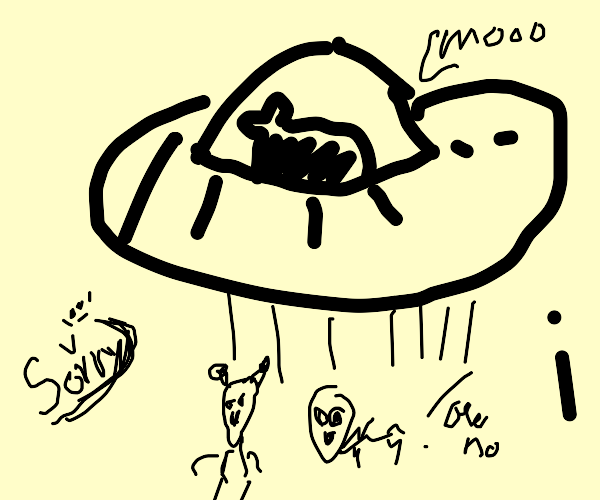 cow abducting aliens