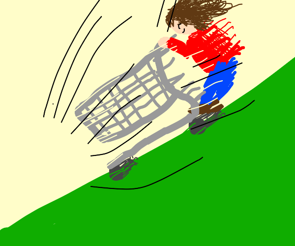 Riding a Shopping Cart Downhill at Top Speed
