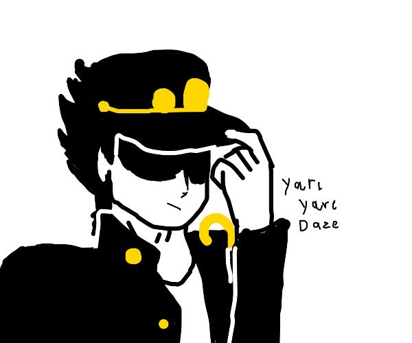 Jotaro says 'Yare Yare Daze'