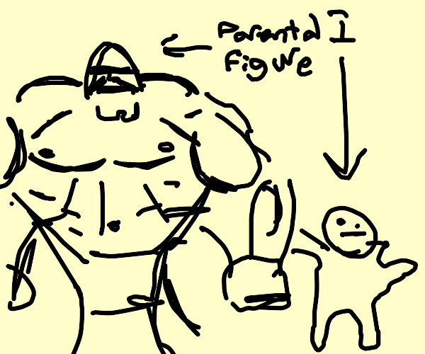 my male parental figure and I