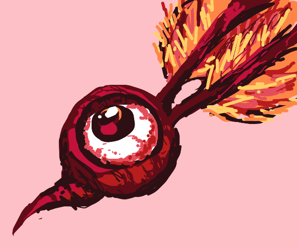 Radish with an eye