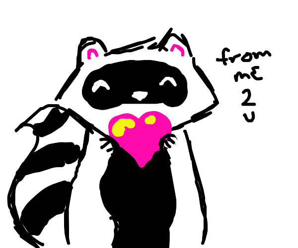 Racoon loves you