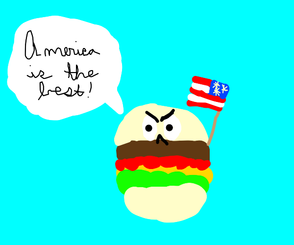 american burgers are rasicst