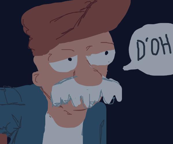 "Scruffy Chin saying ""D'OH"""
