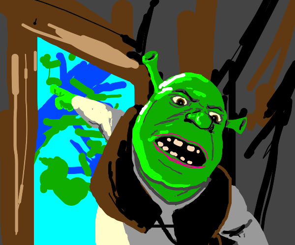 Shrek telling you to leave the swamp