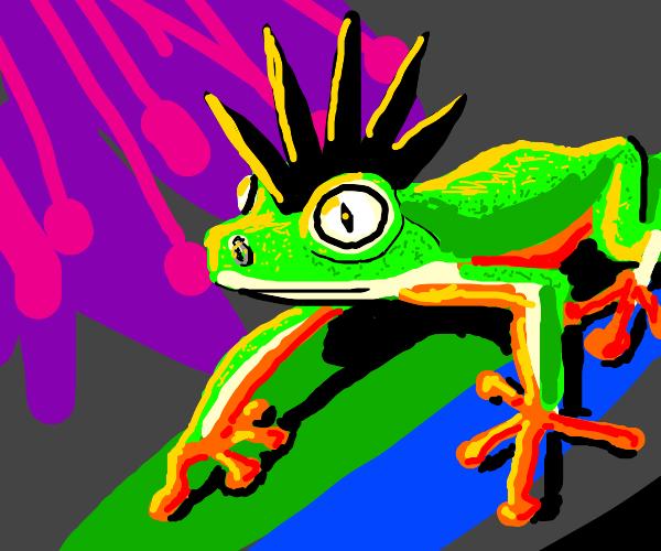 Punk frog