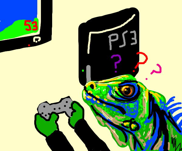 lizard confused by PS3