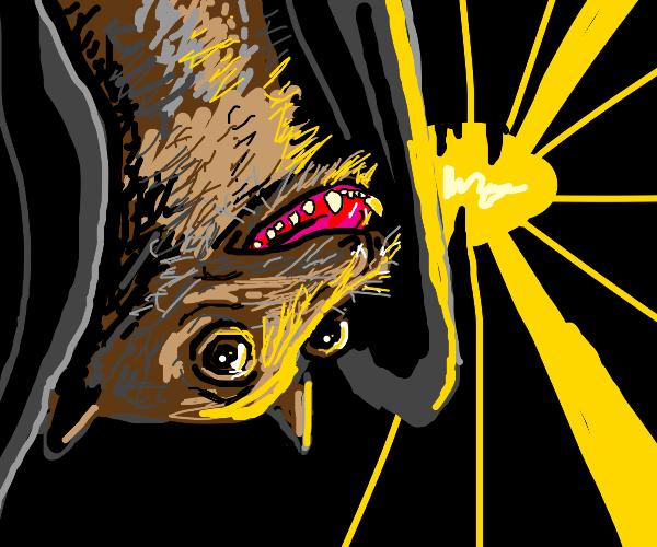 happy bat in a cave