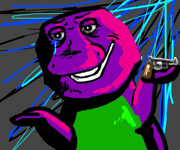 Suicidal depressed Barney