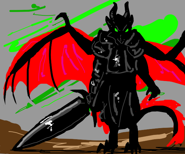 buff dragon with sword