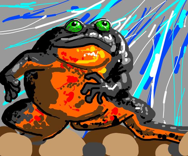Optimistic frog