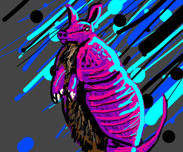 Purple armadillo