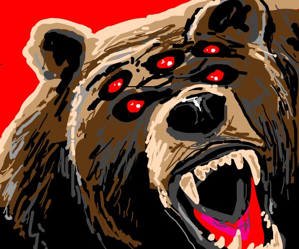 angry 5-eyed bear