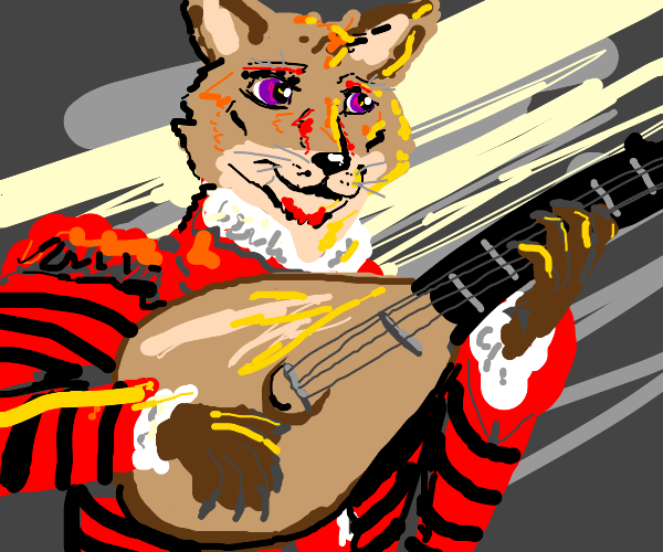 your oc is a medieval lute player