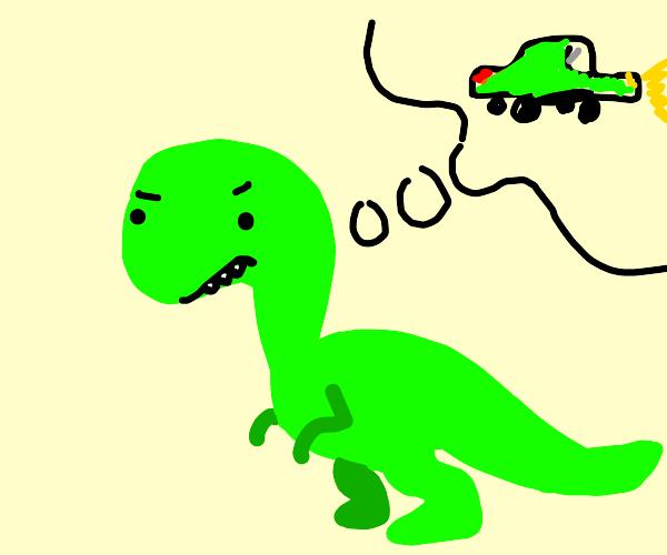 Dinosaur wants a car