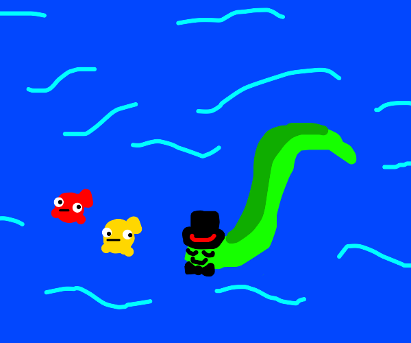 Gentleman Eel swims with other fish