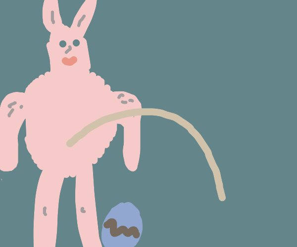 Easterbunny peeing