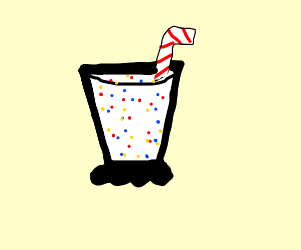 birthday cake flavored shake