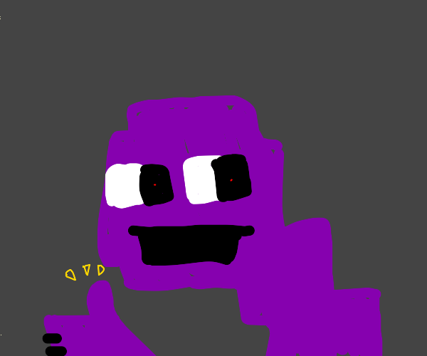 Puple guy gives a thumbs up
