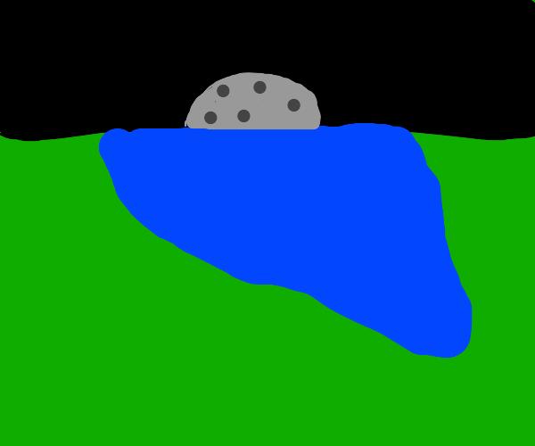 moon over still water