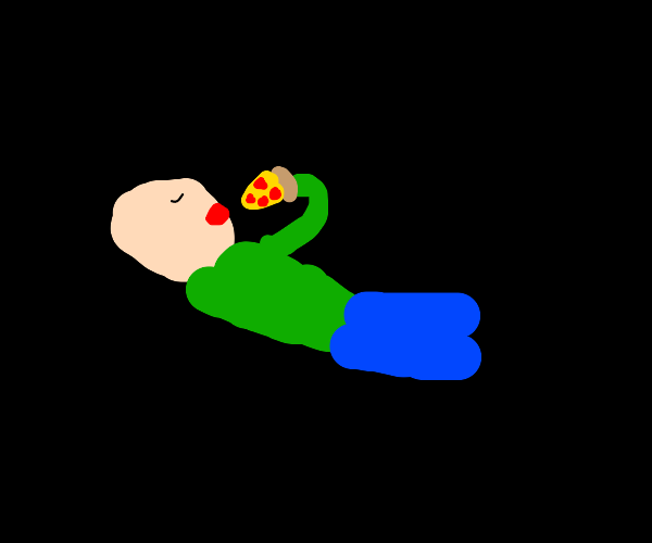 the solitude and joy of a good pizza slice