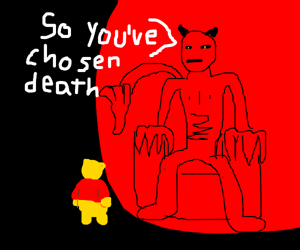 Winnie the pooh sells his soul to Satan