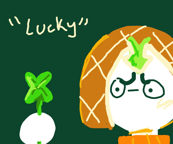 Lucky man found lucky clover